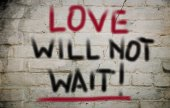 Love Will Not Wait Concept — Stock Photo