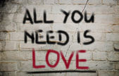 All You Need Is Love Concept — Stock Photo