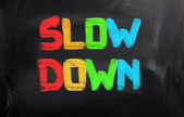 Slow Down Concept — Stock Photo
