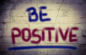 Be Positive Concept — Stock Photo