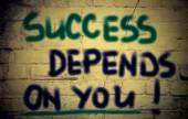 Le succès dépend de vous concept — Photo