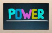 Power koncept — Stockfoto