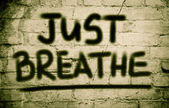 Just Breathe Concept — Stock Photo