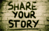 Share Your Story Concept — Foto de Stock