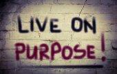 Live On Purpose Concept — Stock Photo