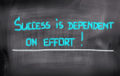Success Is Dependent On Effort Concept — 图库照片