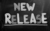 New Release Concept — Stockfoto