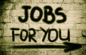 Empregos para você o conceito — Fotografia Stock