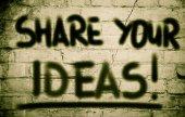 Dela dina idéer koncept — Stockfoto