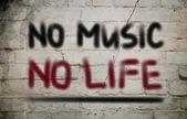 Никакой музыки нет концепции жизни — Стоковое фото