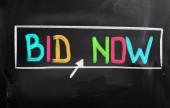 Bid Now Concept — Stock Photo