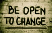 Be Open To Change Concept — Stockfoto