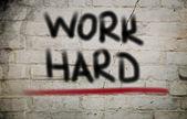 Work Hard Concept — Stock Photo