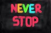 Never Stop Concept — Stockfoto