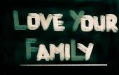Love Your Family Concept — Stok fotoğraf