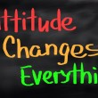 Attitude Changes Everything Concept — Stock Photo #57510185