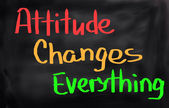 Attitude Changes Everything Concept — Stock Photo