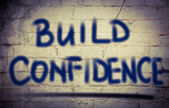 Build Confidence Concept — Stock Photo