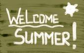 Welcome Summer Concept — Stock Photo