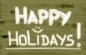 Happy Holidays Concept — Foto de Stock