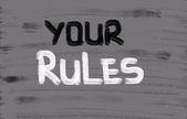 Rules Concept — Foto de Stock