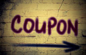 Coupon Concept — Foto de Stock