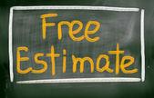 Free Estimate Concept — Stock Photo