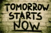 Tomorrow Starts Now Concept — Stock fotografie