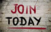 Concetto oggi join — Foto Stock