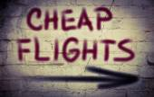 Cheap Flights Concept — Stock Photo