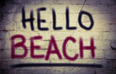 Hello Beach Concept — Stock Photo