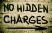 No Hidden Charges Concept — Stock Photo