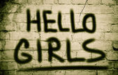 Hello Girls Concept — Stock Photo