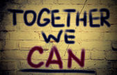 Together We Can Concept — Foto Stock