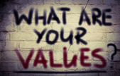 What Are Your Values Concept — Stock Photo