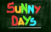 Sunny Days Concept — Stock Photo