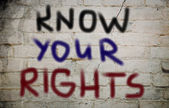 Know Your Rights Concept — Stock Photo