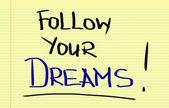 Follow Your Dreams Concept — Stock Photo