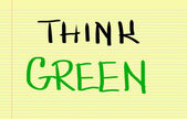 Think Green Concept — Stock Photo