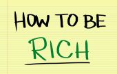 How To Be Rich Concept — Stock Photo
