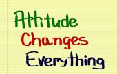 Attitude Changes Everything Concept — Stockfoto