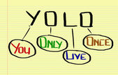 You Only Live Once Concept — Stock Photo