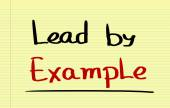 Lead By Example Concept — Stock Photo