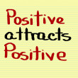 Positive Attracts Positive Concept — Stockfoto #69301285