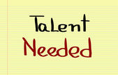Talent Needed Concept — Stock Photo