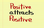 Positive Attracts Positive Concept — Stock Photo