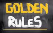 Concept de règles d'or — Photo