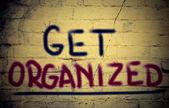 Get Organized Concept — Stock Photo