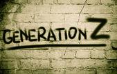 Поколение Z концепция — Стоковое фото