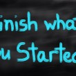 Finish What You Started Concept — Stock Photo #81440878